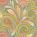 Wallpaper Cantik Motif Fabric AL-C-001