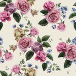 Wallpaper Murah Motif Floral AL-D-012