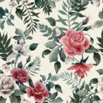 Wallpaper Murah Motif Floral AL-D-015