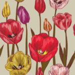 Wallpaper Murah Motif Floral AL-D-034