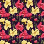 Wallpaper Murah Motif Floral-AL-D-069