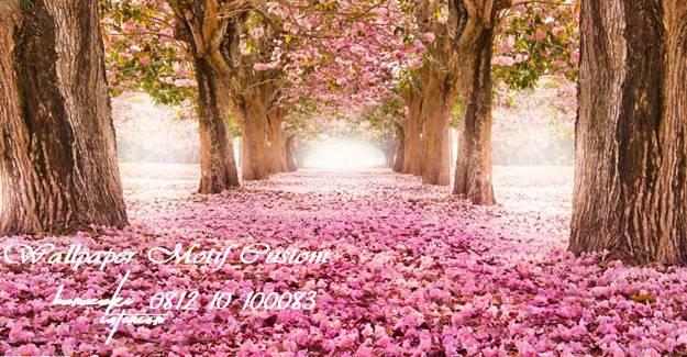Wallpaper-Motif-Custom- Gambar- Bunga-Sakura